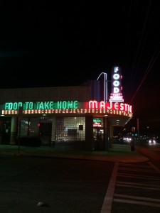 """Majestic Diner """"Food to Take Home"""" sign"""