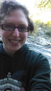 Adina Langer exploring Sweetwater Creek State Park in Lithia Springs, Georgia in November.