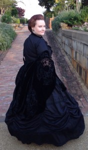 Jennie at Oakland Cemetery dressed as Jennie Inman during 2013 Halloween Celebration