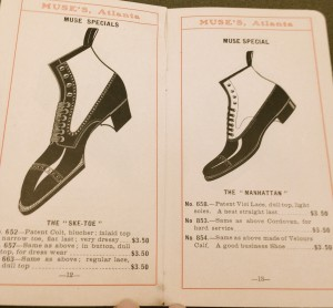 A guide to shoe shopping. Courtesy of Atlanta History Center.