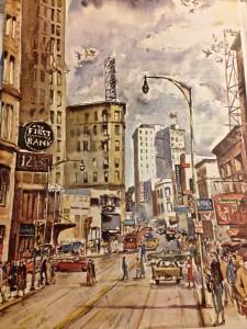 Illustration of Atlanta in 1940s. Image Credit: First National Bank of Atlanta