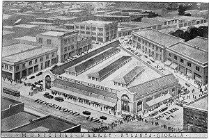 Municipal Market of Georgia taken from the June 1924 edition of the City Builder, VIS 170.613.001, Kenan Research Center, Atlanta History Center.