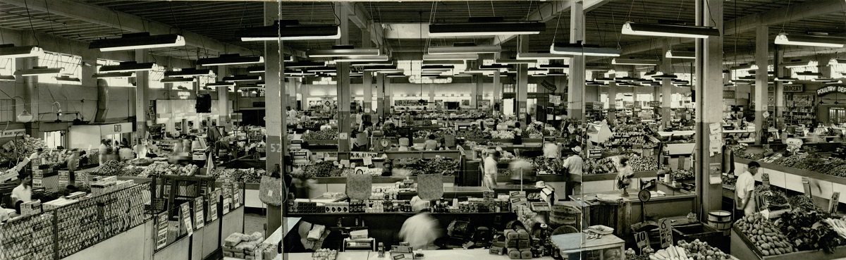 Panoramic View of the Market in 1949 ,VIS 101.576.032, Kenan Research Center, Atlanta History Center.