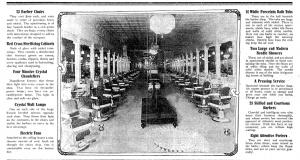 """Herndon's Crystal Palace Barber Shop."" Atlanta Constitution. May 25, 1913. A6"