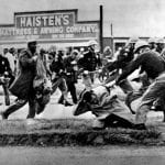 African Americans are attacked during a civil rights march
