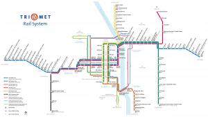 Map of Portland's public transit system