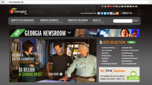 The top of the www.Georgia.org homepage