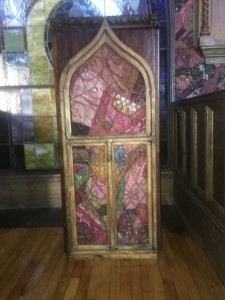 This podium was used in the original church.