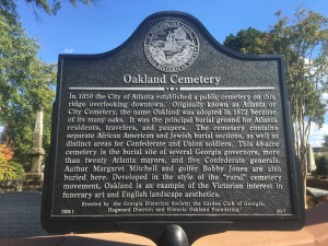 Marker near the entrance of the cemetery