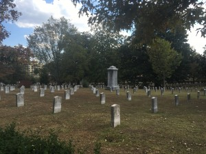 Gravesites of Confederate soldiers