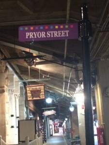 Pryor Street Sign