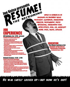 horror resume
