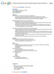 resume design google