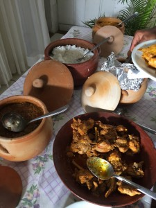 The food was served in Clay pots
