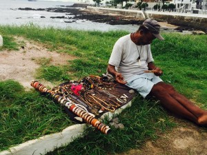 Street Vendor making Dreamcatcher