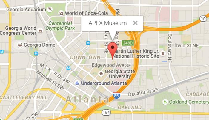 Location of the APEX Museum
