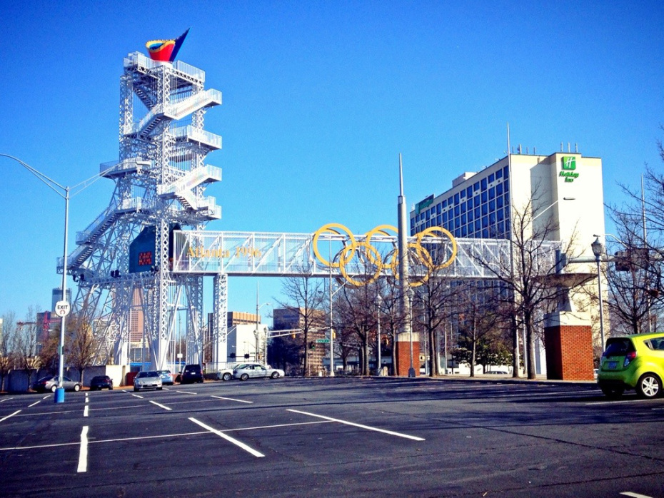 Landmark of the 1996 Olympics near Turner Field