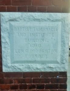 Plaque of Founder Len G. Broughton