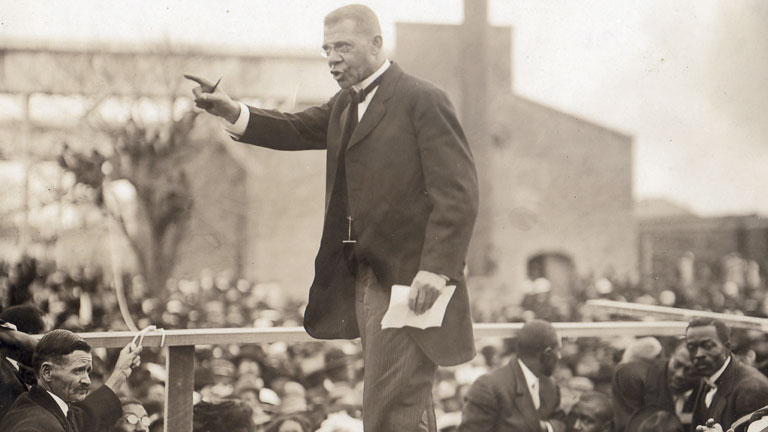 booker t washington biography essay Up from slavery: a biography of booker t washington by jim powell born a slave, booker t washington went on to found tuskegee university, and raised money for many other black schools and.