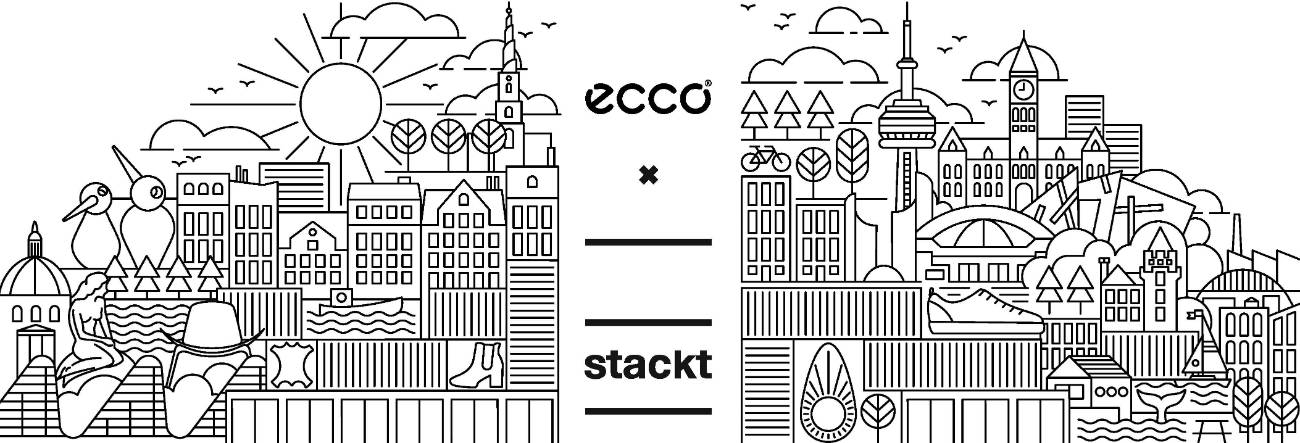 ECCO shoes is popping-up at Toronto's stackt market