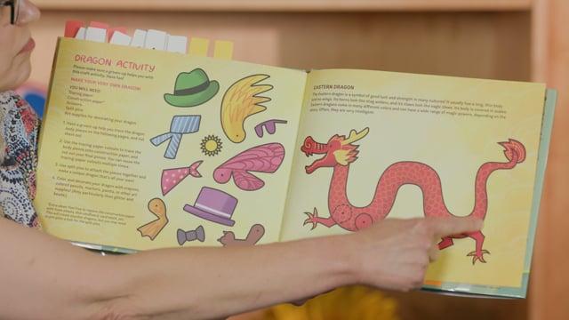 Screencap taken from Dragons - Preschool Storytime Online - Episode 30