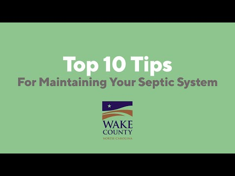 Screencap taken from Top 10 Tips for Maintaining Your Septic System