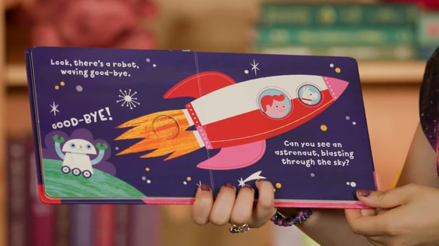 Screencap taken from Outer Space Toddler Storytime Online - Episode 31