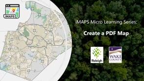 Screencap taken from iMAPS - Create a PDF Map