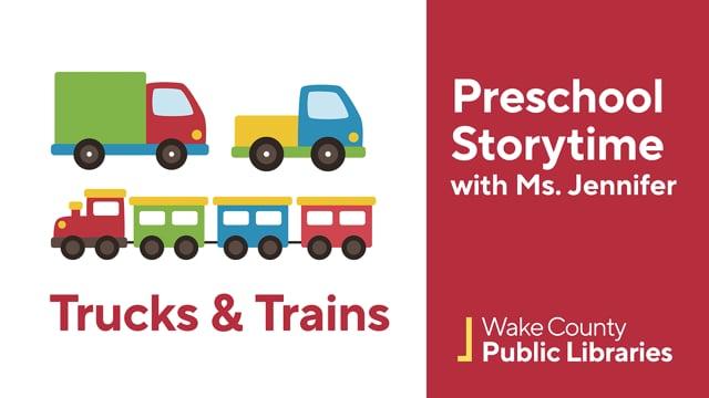 Screencap taken from T for Trucks & Trains Preschool Storytime Online - Episode 33