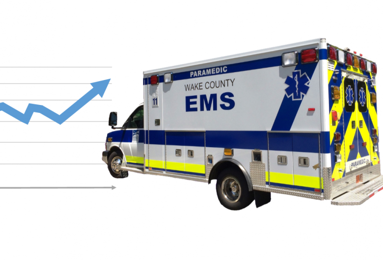 Ambulance with chart on the left side
