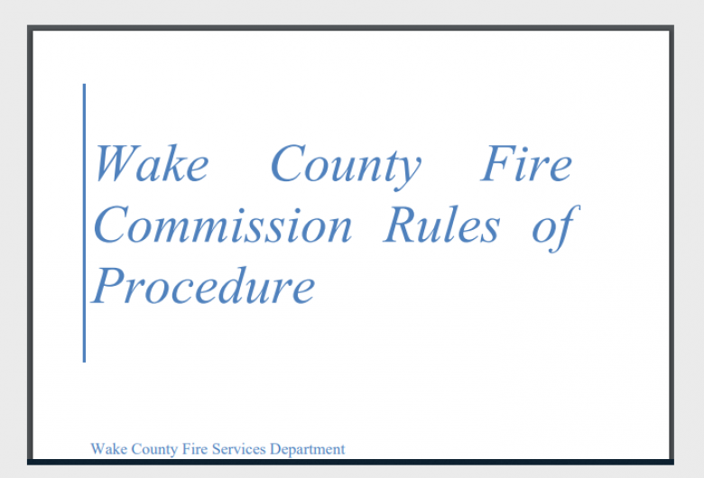 Fire Rules of Procedure Card