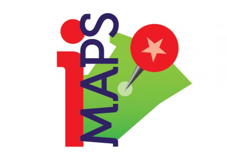 Logo for iMAPS, interactive Wake County map
