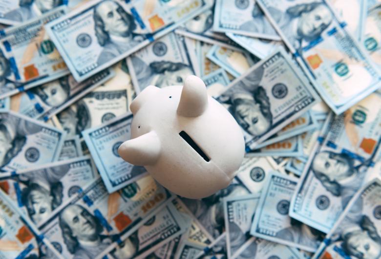 Piggybank with money