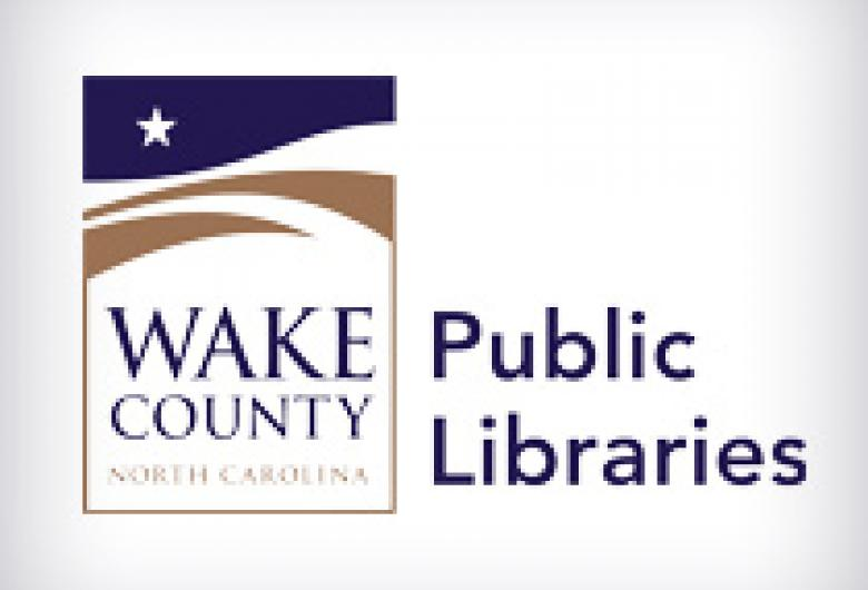 """Wake County logo with """"Public Libraries"""" to the right of it"""