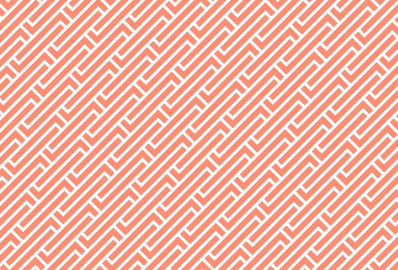 Library Pattern Red