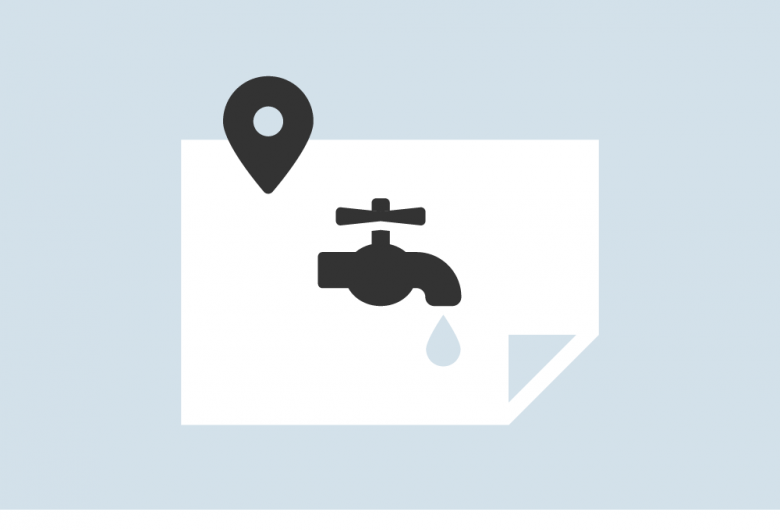 water quality results map icon