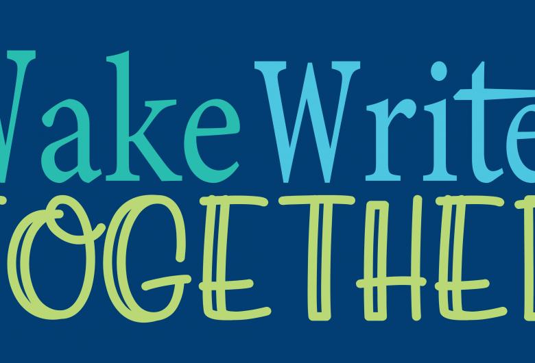 Wake Writes Together blue logo