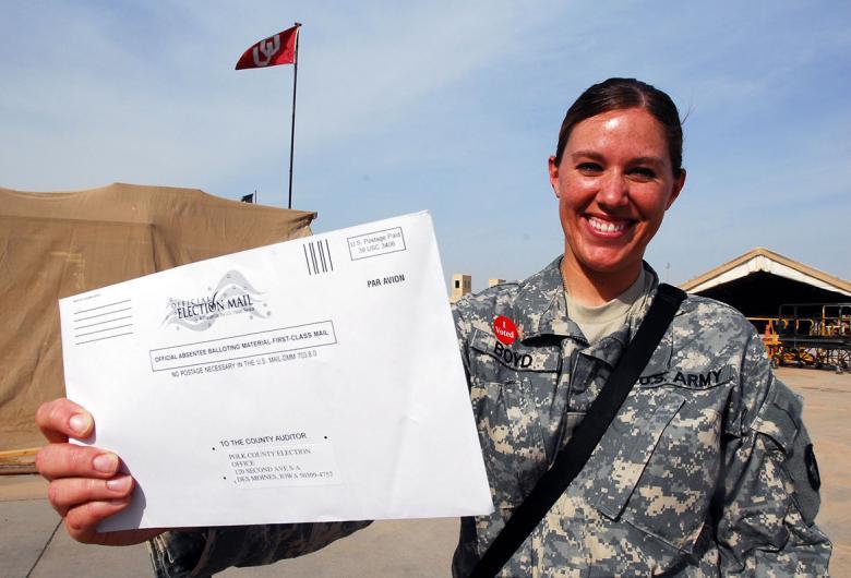 military holding ballot