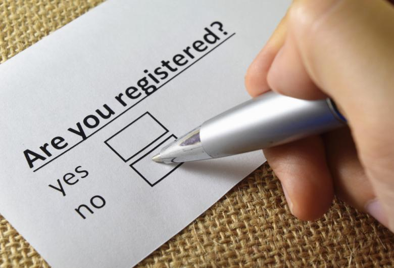 Registered checkbox