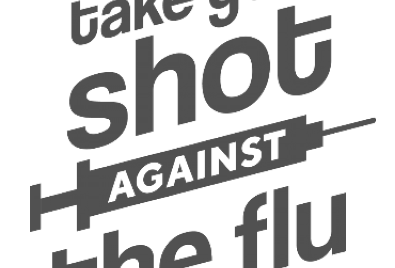 Take your shot against the flu graphic