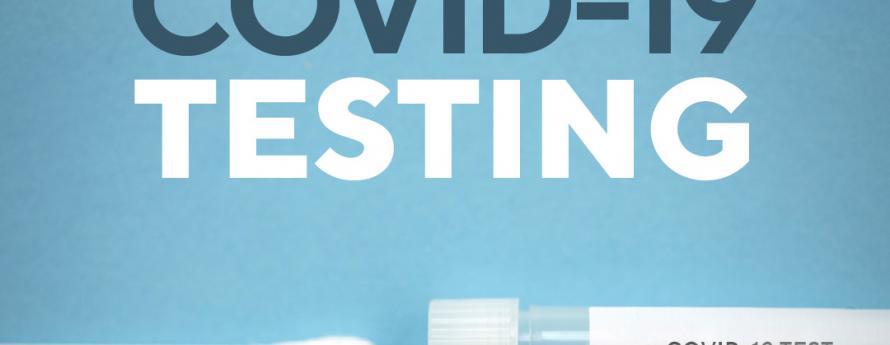 COVID-19 testing image of nasal swab and test tube