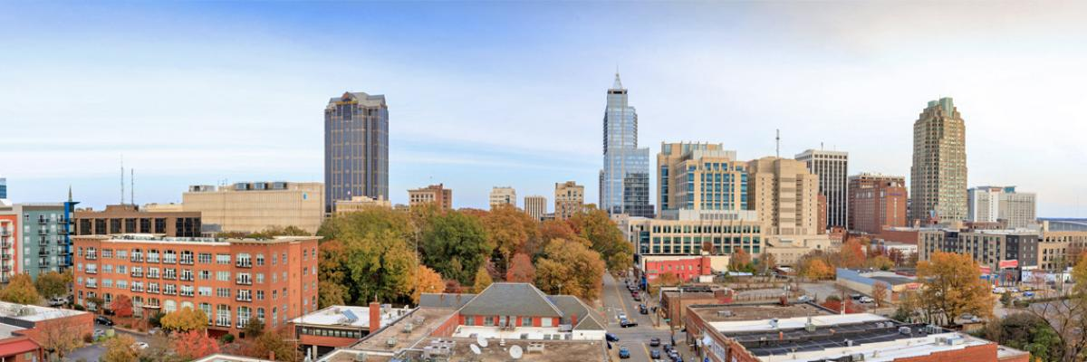 Photo of the downtown Raleigh skyline