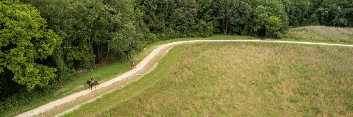 Aerial View of Horse Trails