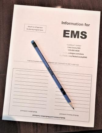 EMS Information Form - hand written