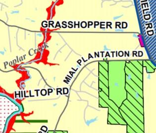 map of East Raleigh/Knightdale Area Land Use Plan