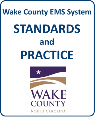 Cover page of Wake County EMS Protocols document