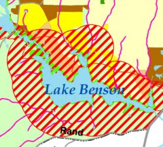 map of Swift Creek Management Plan