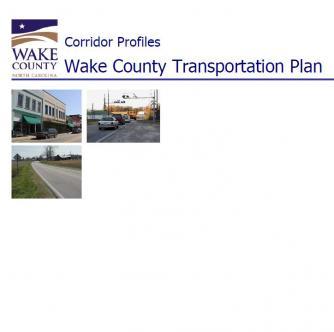 Wake County transportation corridor profiles