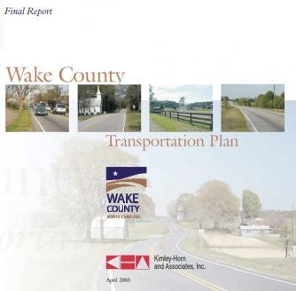 Wake County transportation plan