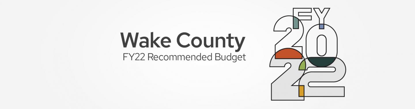 FY 22 Recommended Budget graphic